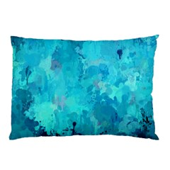 Splashes Of Color, Aqua Pillow Cases (two Sides)