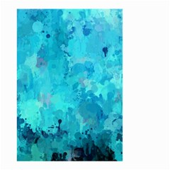 Splashes Of Color, Aqua Small Garden Flag (two Sides)