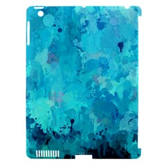 Splashes Of Color, Aqua Apple iPad 3/4 Hardshell Case (Compatible with Smart Cover)