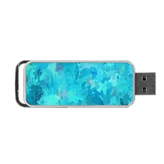 Splashes Of Color, Aqua Portable Usb Flash (two Sides)