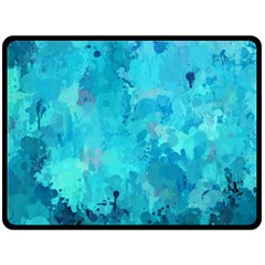 Splashes Of Color, Aqua Double Sided Fleece Blanket (large)