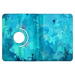Splashes Of Color, Aqua Kindle Fire HDX Flip 360 Case