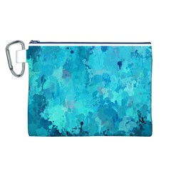 Splashes Of Color, Aqua Canvas Cosmetic Bag (L)