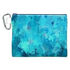 Splashes Of Color, Aqua Canvas Cosmetic Bag (xxl)