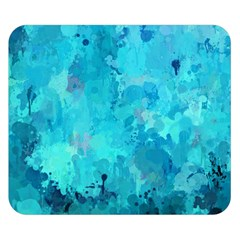 Splashes Of Color, Aqua Double Sided Flano Blanket (small)
