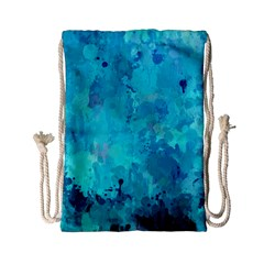 Splashes Of Color, Aqua Drawstring Bag (small)