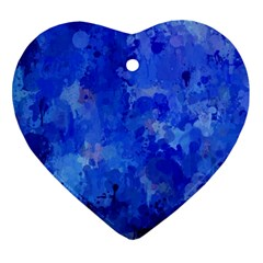 Splashes Of Color, Blue Ornament (Heart)