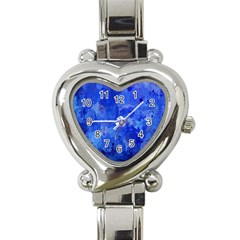 Splashes Of Color, Blue Heart Italian Charm Watch