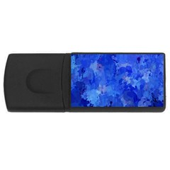 Splashes Of Color, Blue USB Flash Drive Rectangular (4 GB)