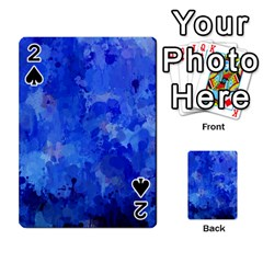 Splashes Of Color, Blue Playing Cards 54 Designs