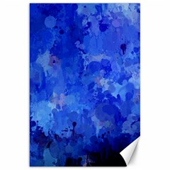 Splashes Of Color, Blue Canvas 20  x 30