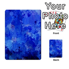 Splashes Of Color, Blue Multi Purpose Cards (rectangle)