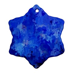 Splashes Of Color, Blue Snowflake Ornament (2 Side)