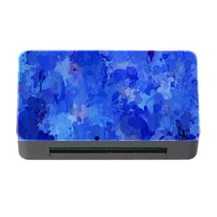 Splashes Of Color, Blue Memory Card Reader With Cf