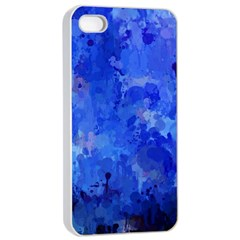 Splashes Of Color, Blue Apple Iphone 4/4s Seamless Case (white)