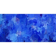 Splashes Of Color, Blue You Are Invited 3d Greeting Card (8x4)
