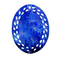 Splashes Of Color, Blue Ornament (oval Filigree)