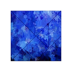 Splashes Of Color, Blue Acrylic Tangram Puzzle (4  X 4 )
