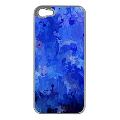Splashes Of Color, Blue Apple iPhone 5 Case (Silver)