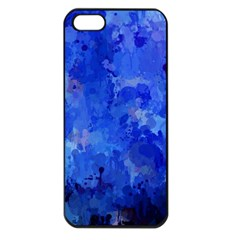 Splashes Of Color, Blue Apple iPhone 5 Seamless Case (Black)