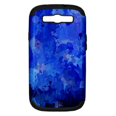 Splashes Of Color, Blue Samsung Galaxy S III Hardshell Case (PC+Silicone)