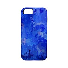 Splashes Of Color, Blue Apple iPhone 5 Classic Hardshell Case (PC+Silicone)