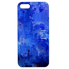 Splashes Of Color, Blue Apple iPhone 5 Hardshell Case with Stand