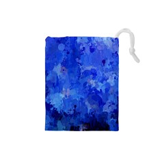 Splashes Of Color, Blue Drawstring Pouches (small)