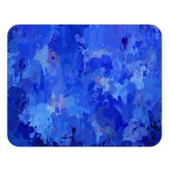 Splashes Of Color, Blue Double Sided Flano Blanket (Large)