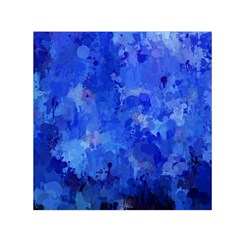 Splashes Of Color, Blue Small Satin Scarf (square)