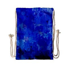 Splashes Of Color, Blue Drawstring Bag (small)