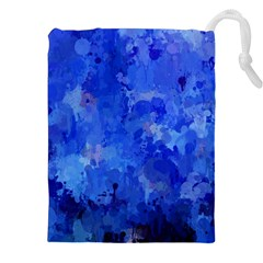 Splashes Of Color, Blue Drawstring Pouches (xxl)