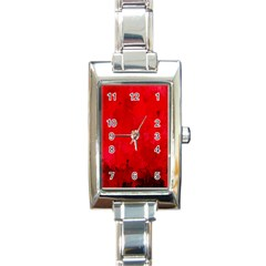 Splashes Of Color, Deep Red Rectangle Italian Charm Watches