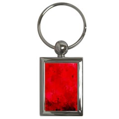 Splashes Of Color, Deep Red Key Chains (Rectangle)