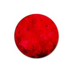 Splashes Of Color, Deep Red Magnet 3  (Round)