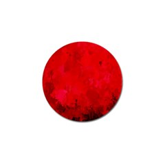 Splashes Of Color, Deep Red Golf Ball Marker