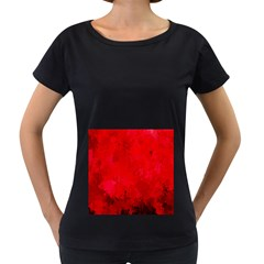 Splashes Of Color, Deep Red Women s Loose Fit T Shirt (black)