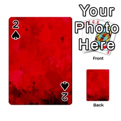 Splashes Of Color, Deep Red Playing Cards 54 Designs