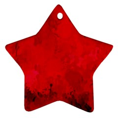 Splashes Of Color, Deep Red Star Ornament (Two Sides)