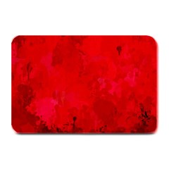 Splashes Of Color, Deep Red Plate Mats