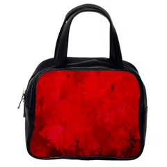 Splashes Of Color, Deep Red Classic Handbags (One Side)