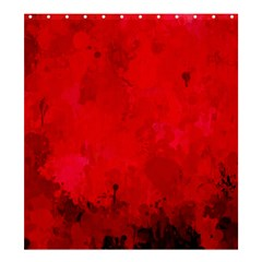 Splashes Of Color, Deep Red Shower Curtain 66  X 72  (large)