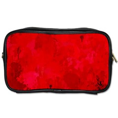 Splashes Of Color, Deep Red Toiletries Bags 2-Side
