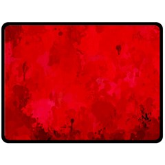 Splashes Of Color, Deep Red Fleece Blanket (large)
