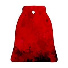 Splashes Of Color, Deep Red Bell Ornament (2 Sides)