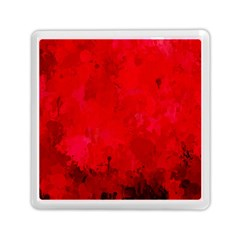 Splashes Of Color, Deep Red Memory Card Reader (square)