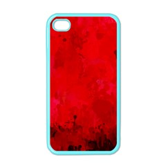 Splashes Of Color, Deep Red Apple iPhone 4 Case (Color)