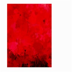 Splashes Of Color, Deep Red Large Garden Flag (two Sides)