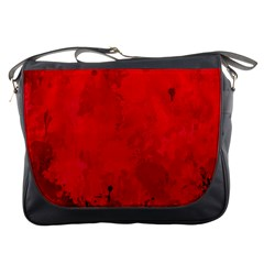 Splashes Of Color, Deep Red Messenger Bags