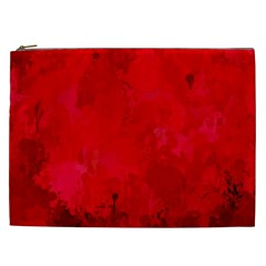 Splashes Of Color, Deep Red Cosmetic Bag (XXL)